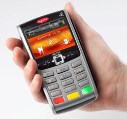 Contactless credit card terminal